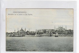 CONSTANTINOPLE. MINISTERE DE LA JUSTICE ET STE SOPHIE. ECONOMIC. CIRCA 1910's.- BLEUP - Turkije