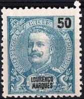 LOURENCO MARQUES, COLONIA PORTOGHESE, PORTUGUESE COLONY, RE CARLOS I, 1898, NUOVO (MNG) Michel 38    Scott 38 - Lourenco Marques