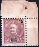 LOURENCO MARQUES, COLONIA PORTOGHESE, PORTUGUESE COLONY, 1898, RE CARLO I, NUOVO (MNG) Michel 35    Scott 33 - Lourenco Marques