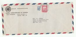 1954 PANAMERICAN Union COLOMBIA To UN NY USA Airmail COVER Inter American Housing Center To United Nations Stamps - Colombia