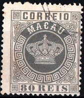 MACAO, COLONIA PORTOGHESE, PORTUGUESE COLONY, CORONA, CROWN, 1885, FRANCOBOLLI USATI Michel 21…Scott 12 - Usati