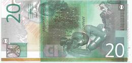 Yugoslavia 20 Dinara 2000. UNC NOT ISSUED MAKULATURA Unfinished Print Essay Trial - Yugoslavia