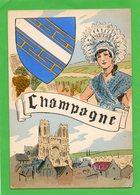 Carte ( Région Et Costume ) ( Champagne ) - Costumes