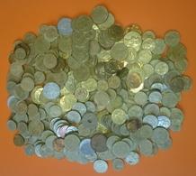 FRANCE VRAC DE 1100 GRAMMES DE PIECES DE MONNAIE NON TRIÉ - FRANCE BULK OF 900 GRAMS OF COINS OF NON-SINTED CURRENCY - Monete & Banconote