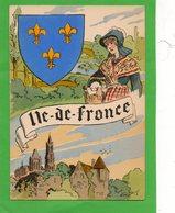 Carte ( Région Et Costume ) Ile De France ) - Costumes
