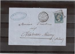 Cp94 - FRANCE N° 14 - Cachet à Date Ambulant 26 SEPT 1861 STRASBOURG A PARIS 2° - Sur Le Timbre SP2° - 1853-1860 Napoléon III