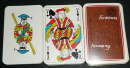 Rare Jeu De 54 Cartes Publicitaire, Cigarettes Tabac FONTENOY, Régie Française Des Tabacs, Joker - 32 Cards