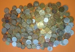 MONDE WORLD VRAC DE 900 GRAMMES DE PIECES DE MONNAIE NON TRIÉ - FRANCE BULK OF 900 GRAMS OF COINS OF NON-SINTED CURRENCY - Monete & Banconote