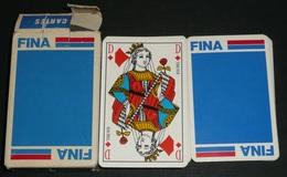 Rare Jeu De 54 Cartes Publicitaire,PUB FINA, Essence Huile Garage - 54 Cartes