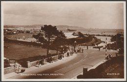 Bandstand And Pier, Paignton, Devon, 1934 - Valentine's RP Postcard - Paignton
