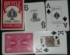 Rare Jeu De 54 Cartes BICYCLE Jumbo Index, Poker, Gros Chiffres - 54 Cards