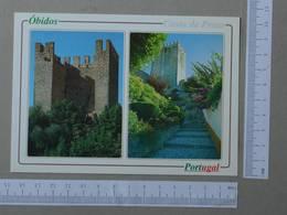 PORTUGAL - CASTELO -  OBIDOS -   2 SCANS  - (Nº24197) - Leiria