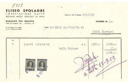 FAT187 - FATTURA 1953- ELISEO SPOLAORE - BASSANO DEL GRAPPA  - MARCHE DA BOLLO - Italia