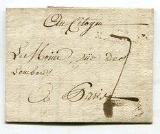 Frankreich / Vorphila-Bf. L2-Stempel MAMERS, Rs. K1-Stempel 24 (14192) - Poststempel (Briefe)