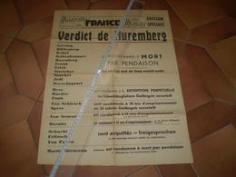 Affiche Du Verdict Du Procès De Nuremberg : 49 X 36 - Posters