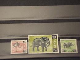 KENIA - 1966/9 FAUNA 65 C. - 70 C. - 1/30 - NUOVI(++) - Kenia (1963-...)