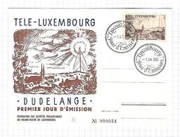 Luxembourg - Carte Postale De 1955 - Oblit Luxembourg - Téle Luxembourg - Luxemburg
