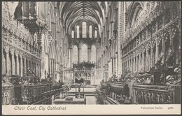 Choir East, Ely Cathedral, Cambridgeshire, C.1905 - Valentine's Postcard - Ely