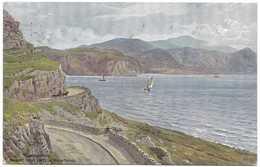 Llandudno Marine Drive & Welsh Mountains By A R Quinton - Salmon 1071 Postmark 1954 - Quinton, AR
