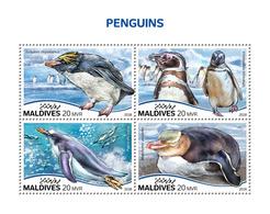 MALDIVES 2018 - Penguins. Official Issue - Pinguïns & Vetganzen
