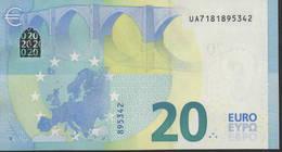 """€ 20  FRANCE  UA U010  """"18""""  DRAGHI  UNC - EURO"""