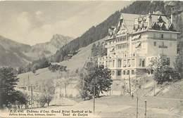 Suisse - Ref D181- Chateau D Oex , Grand Hotel Berthod Et La Dent De Corjon   - Carte Bon Etat  - - Svizzera