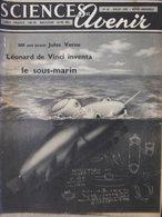 Revue Sciences Et Avenir N°65 (juil 1952) - Mystère Menhirs De Carnac - Saquvetage Des Prématurés - Léonard De Vinci - Ciencia