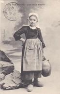 TREGUNC . - Jeune Fille à La Fontaine - Trégunc