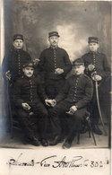 Carte Photo Non Localisée - Groupe De Soldats - 30° Artllerie - Photo Th. Barbier - ORLEANS -  (107953) - Characters