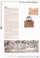""""""" GROTTE DE ROUFFIGNAC """" Sur Document Philatélique Officiel De 2006  N° YT 3905. Parfait état Prix à La Poste = 5 € DPO - Préhistoire"""