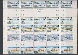 British Antarctic Territory 1985 British Grahamland Expedition 4v Strip 5x  Gutter ** Mnh (F7293) - Brits Antarctisch Territorium  (BAT)