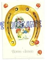 Bonne Année. Fer à Cheval, Lutin, Champignons, Coccinelle, Trèfles, Calendrier (1) - Nouvel An