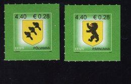 613838392 ESTLAND ESTONIA 2006 ** MNH  SCOTT  532 533 COUNTRY ARMS LAANE VIRUMAA  POLVAMAA - Estonie
