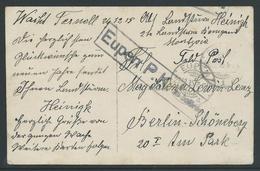 Feldpostkaart  Verstuurd Uit Montjoie 26.12.15 - Guerre 14-18