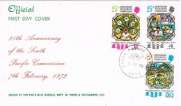 29504. Carta F.D.C. SUVA (Fiji) 1972. South Pacific Commission - Fiji (1970-...)