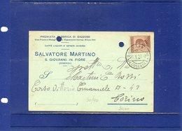 ##(ANT2)-S.GIOVANNI IN FIORE (COSENZA) 1927-Cartolina Commerciale Intestata Salvatore Martino- VINO-viaggiata - Italia