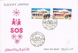 29505. Carta F.D.C. CAIRO (EGypt) 1977. S.O.S. Infantil - Egypt
