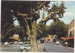 06 - PEGOMAS - La Grande Place Ombragée / Années 70 / Voitures : Ami 6, Simca 1000, 2 CV, DS, Etc... - Other Municipalities