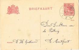 29507. Entero Postal MONFOORT (Nederland) 1921, Correo Interior - 1891-1948 (Wilhelmine)