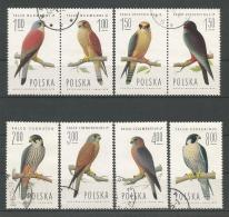 A01360)Polen 2354 - 2361 Paare Gest., Vogel - 1944-.... Republik