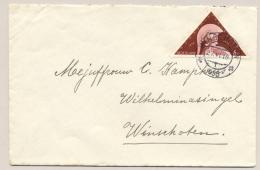 Nederland - 1936 - 6 Cent Driehoekzegel Academia Op Lokaal Briefje Winschoten - Periode 1891-1948 (Wilhelmina)