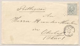 Nederland - 1891 - 12,5 Cent Willem III Met Puntstempel 122 En KR Winschoten Naar Obersdorf / Deutschland - 1852-1890 (Wilhelm III.)