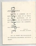 Jean-Marie Guyaux-Wart Né Le 17/09/1958 à Lobbes - Birth & Baptism