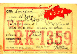 R 67 / CARTE FICHE RADIO AMATEUR     USSR   EU  RK 1359 - Radio Amateur