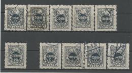 A01444)Polen P 54 - 64 Gest., Ohne Nr. 60 - Portomarken