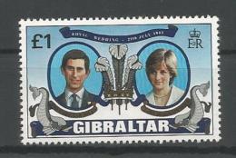 A01453)Royal Wedding / Lady Di: Gibraltar 422** - Familles Royales