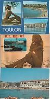 Lot 3 CPM  Femmes Seins Nus  Toulon, Ile De Ré, Ste Maxime  2 Non Circulées - Humour