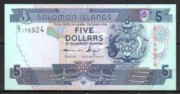 558-Salomons Billet De 5 Dollars 1997 C7 - Solomon Islands