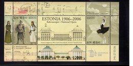 613846168 ESTLAND ESTONIA 2006 ** MNH  SCOTT  537 NATIONAL OPERA CENT - Estonie