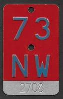 Velonummer Nidwalden NW 73 - Plaques D'immatriculation